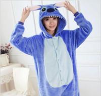 pyjama-sets für paare großhandel-Großhandels- Paar Pyjama Sets Pijama Licorne Frauen Stich volle Hülse mit Kapuze Pyjama Sets Pijamas Feminino Tier Pyjamas für Erwachsene