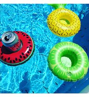 Inflable Floating Tropical Melancia Pineapple Lemon Drink Cup Holder pour Swim Pool Party Water Fun 10pcs / lot DEC294