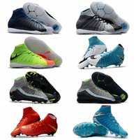 Wholesale Cheap Winter Ankle Boots - Cheap Neymar boots ankle high soccer cleats indoor authentic neymar 2017 mens soccer shoes original IC TF football boots Blue New