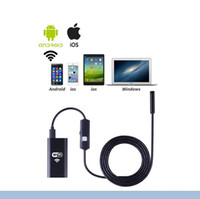 Wholesale Led 8mm - WiFi EndoscopyEletryc Wifi Endoscope 720P HD with 8mm Lens 6 LED Waterproof Inspection Camera Borescope Camera iOS  Android Snake Flexible C