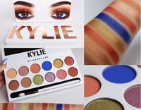 Wholesale Cheap Glitter Eye Shadow - wholesale cheap Kylie Jenner Makeup Kylie Royal Peach Eyeshadow Palette 12 Colors Eye Shadow Kit With Brush