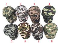 renk korumalı toptan satış-8-color sıcak erkekler ve kadınlar güvenli moda kamuflaj beyzbol şapkası güneş gözlüğü bayanlar erkek üniforma kap şapka M005