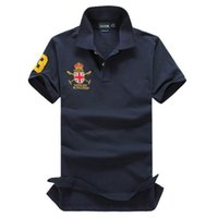 Wholesale Long Sleeve Polyester Polo Shirts - Brand Famous Big Horse Men Polo Shirt Long Sleeve Solid Polo Shirts Camisa Polos Masculina Casual Polyester Tops Tees Shirts