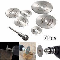 Wholesale Wood Discs - 7pcs Circular Wood Cutting Saw Blade Discs with Mandrel