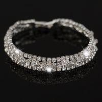 Wholesale Silver Chain Bracelete - New Fashion Silver Plated Best Quality Austrian Crystal Bracelete Women Jewelry bracelet Free shipping