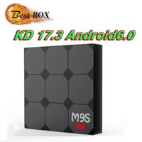 Wholesale Android Factory Settings - Factory Sale M9S V3 Smart Android 6.0 TV Box Rockchip RK3229 Quad Core Google Set Top Box Fully Loaded KD17.3 OTT Box
