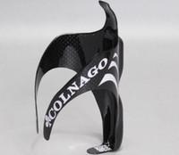 цилиндрическая водная бутылка черного цвета оптовых-Colnago бутылки с водой клетки ультра легкий углерода Fibermatte черный велосипед держатель чашки велосипед прочный Горный шоссе велоспорт аксессуары 5 8kf я