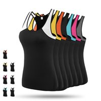 Wholesale sexy spandex clothes - Brand Sexy Mesh Fitness Yoga Shirt Tops Breathable Sportswear Women T Shirt Suit Quick-Dry Running Sports Clothing Sleeveless Gym Yoga Vest