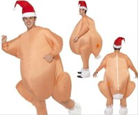 Wholesale Chicken Mascot Costumes - Inflatable Roast Turkey Costume Halloween Chicken For Adults Inflatable Christmas Fancy Dress Mascot Costume Clothing