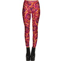 Gold Rose Hose Bloom Spread fest Frauen Turnhalle Kleidung Leggings Sportbekleidung Fitness Training Sportkleidung Übungshose
