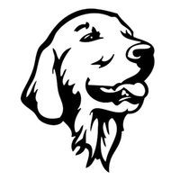 Wholesale dog golden - 12.2*14.7CM Golden Retriever Dog Car Bumper Stickers Cute Pet Dog Decals Car Styling Decoration Accessories Black JDM