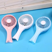 портативный охлаждающий вентилятор оптовых-Wholesale- New Mermaid Fish Style USB Mini Fan Folding Handheld Cooling Cooler Rechargeable Desk Fan for Laptop Macbook EM88