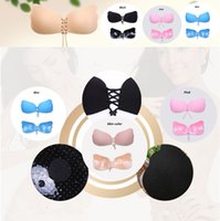Wholesale Breast Shape Up - Butterfly Shaped Bras for Women Self-Adhesive Push Up Silicone Bust Front Closure Strapless bra Style Invisible Bra with retail boxBAB31