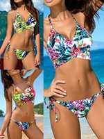 Wholesale New Design Brazilian Swimwear Bikini Sexy Two Pieces Triangle Bikini Set Swimsuit Lady Sexy Swimsuit Biquini Push Up Bikinis Bathing Suit