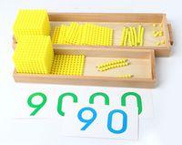 ingrosso giocattoli matematici-New Montessori Baby Toys Set di giochi per la banca Maths Giocattoli educativi per bambini Regali per bambini Educazione della prima infanzia Prescolare Matematica