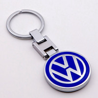 Wholesale keychain car volkswagen resale online - 3D Metal car logo creative gift Keychain keyring key chain Series the best gift For Volkswagen VW Birthday Men Women