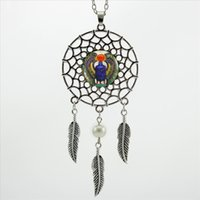 Wholesale 2017 Trendy Style Dreamcatcher Pendant Egyptian Scarab Necklace Ancient Egypt Jewelry Dream Catcher Necklace NDC