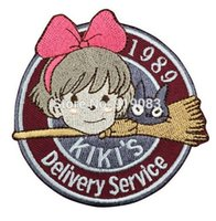 Wholesale Wholesale Tv Services - 1989 Kiki's Delivery Service Patch Miyazaki Hayao Animation tv movie cartoon Embroidered Emblem applique halloween cosplay