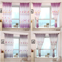 Wholesale Taotown blinds curtains for the kitchen Country Style Print Sheer Window Curtains for the Living Room bedroom Bedroom