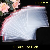 Wholesale Plastic Bags For Jewelry - 100pcs lot Plastic Ziplock Bags Seal Bags Reclosable Zipper Bags 9 Size For Pick