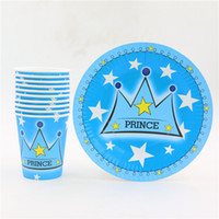 Wholesale 1st Birthday Party Favors - Wholesale-10kids use birthday party supplies kids crown prince design boys 1st birthday decoration baby shower favors 20pcs