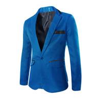 homens de design elegante venda por atacado-Venda por atacado - Venda quente 2016 novo design Mens marca Blazer casacos, Casual Slim Fit elegante Blazers para homens, Plus Size M ~ XXXL, 3 cores