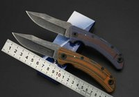 Wholesale Stainless Steel Wash - Stone wash surface 7Cr13mov Stainless steel blade Folding tactical hunting knife Survival camping knives Outdoor pocket tool Dropshipping