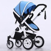 Wholesale Inflatable Wheels - 2017 new protable baby stroller baby pram high landscape stroller baby carriage inflatable natural rubber wheels high-grade free shipping