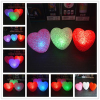 Wholesale Led Lights For Plastic Cups - christmas night lights for kids plastic body colorful led night lights with button battery for chrildren party room