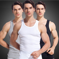 Wholesale Recycling Shirts - 2017 Summer Stly Men Blank Stringer Y Back 100% Cotton Tank Top Gym Bodybuilding Clothings Fitness Shirt Sports Vests Muscle Tops