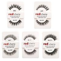 Wholesale Transparent Terrier False Eyelashes - RED CHERRY 10 styles False Eyelashes DHL Freeshipping Fake Eye Lashes handmade Beauty Eyelash Extension with Retail Boxes