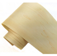 Wholesale Paper White Plant - L:2.5Meters pcs Wide:200mm Thickness:0.2mm Natural Canada white maple veneer decoration speaker manual leather veneer