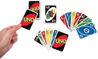 Wholesale Trade Stockings - 270g UNO Poker Card Standard Edition Family Fun Entermainment Board Game Kids Funny Puzzle Game Free DHL In Stock