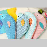 Wholesale Lovely Pencil Case - Wholesale- High Quality and Lovely Creative Imitation Fish Box Fish Shaped School Pencil Bag Stationery School Pencil Case Student Gift
