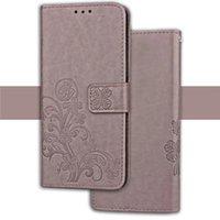 ingrosso pelle di trifoglio-Per LG X Style Tribute HD LS676 Stilo 2 LS775 Galaxy J2 Prime Lucky Clover Fiore Portafoglio Custodia in pelle di lusso del telefono del supporto del basamento 1 pz
