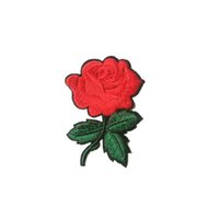 ingrosso ornamenti diy crafts-2017 Carino Colorful Rose Applique Fiori Patch ricamati Sew on Clothes Bags Handmade DIY Craft Ornament Fabric Sticker