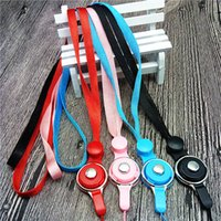 Wholesale Nylon Badge Holder - 2 in 1 Nylon Neck Detachable Lanyards Straps for USB Flash Drives  Camera  Cell Phone  Keys Keychains  ID Name Tag Badge Holders