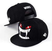 Wholesale Korean Style Hats For Women - New Style Korean Snapback Letter WUKE Adjustable Baseball Cap Hip Hop Flat Basketball Football Hat For Men&Women