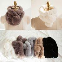 Wholesale Skin Rex Rabbit Fur - Wholesale-Women Whole set rabbit skin Rex rabbit fur scarf Real Natural Rabbit Fur Scarves
