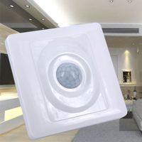 interruptor pir humano al por mayor-Al por mayor-Inicio LED de luz PIR Sensor de movimiento por infrarrojos Interruptor Inducción del cuerpo humano Ahorro de energía Movimiento Módulo automático Detector de luz Interruptor