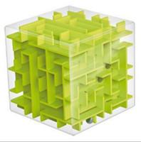 3d labyrinthe großhandel-Transparente 3D Mini Geschwindigkeit Cube Maze Magic Ball Ältere Puzzle Intelligenz Kinder Frühkindliche Bildung Puzzle Spielzeug 5 8qy G1