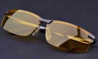 Wholesale Vision Tint - Night Driving Sun Glasses Male Night Vision Sunglasses Tinted Lenses Classic Sun Glasses For Men 2017