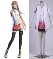 Wholesale Male Fantasies - Final Fantasy XIII Serah Farron cosplay Halloween Costumes
