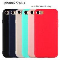 silicone do iphone 4,7 venda por atacado-Para o iphone 6 case 6 s 7 4.7 '6 mais 6 s 7 plus 5.5' tpu case soft silicon matte case