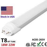 Wholesale Frosted Light Bulbs - 4ft LED Light Fixtures 4Feet LED Tube T8 LED Bulbs Tubes Frosted Type 18W 22W 28W Super Bright SMD2835 AC85-265V