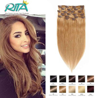 # 27 Golden Blonde Color 16-28inches Brazilian Straight Human Hair Bundle 70-200g Clip In Hair Hair Extensions