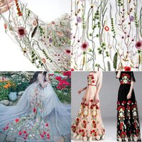 Wholesale wedding dresses cm x cm Flower Floral Embroidery Black Mesh Wedding Dress Lace Fabric