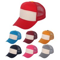 Wholesale Plain Mesh Caps - Hot Selling Plain Blank Unisex Adult Trucker Hat Mesh Casual Sports Hat Baseball Cap 6 Panel Cotton Snapbacks Two Tone Color