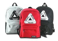 Wholesale Dead Fly - PALACE Backpack PALACE tide brand triangular printing off men and women bag hip hop Supremitied Dead fly American skateboard shoulder bag