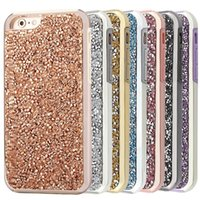 Wholesale Slings Pc - For iPhone 7 Plus Case, Bling Glitter Dual Layer Shockproof Hard PC Back Soft TPU Inner Protective Cover Case with Sling